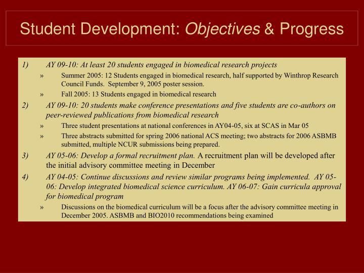 Student Development:
