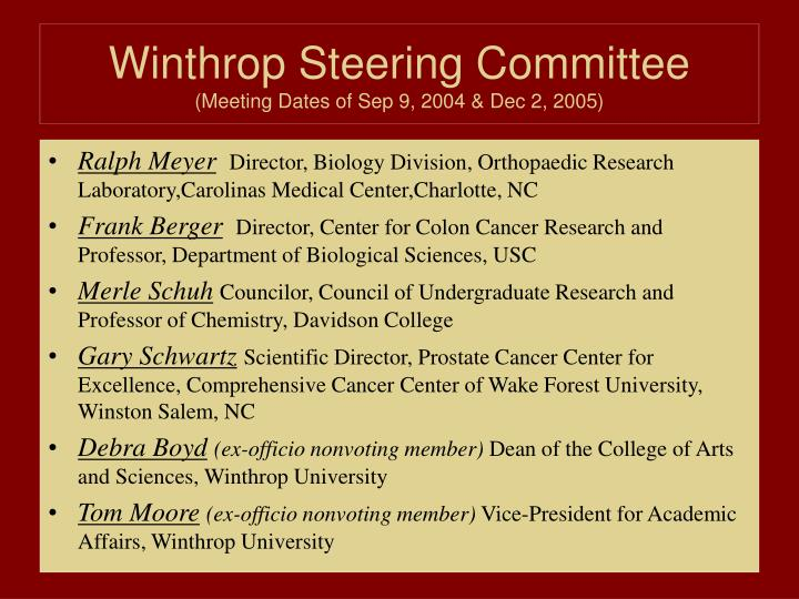 Winthrop Steering Committee