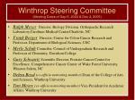 winthrop steering committee meeting dates of sep 9 2004 dec 2 2005