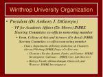winthrop university organization