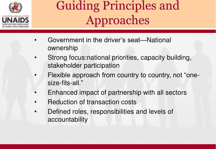 Guiding Principles and Approaches