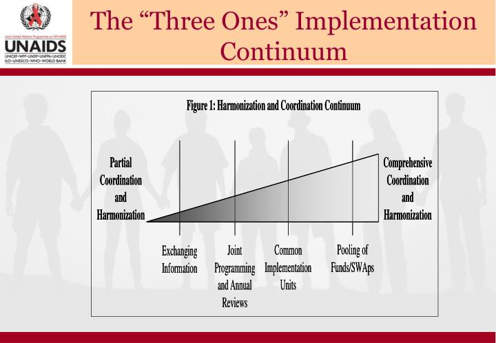 "The ""Three Ones"" Implementation Continuum"