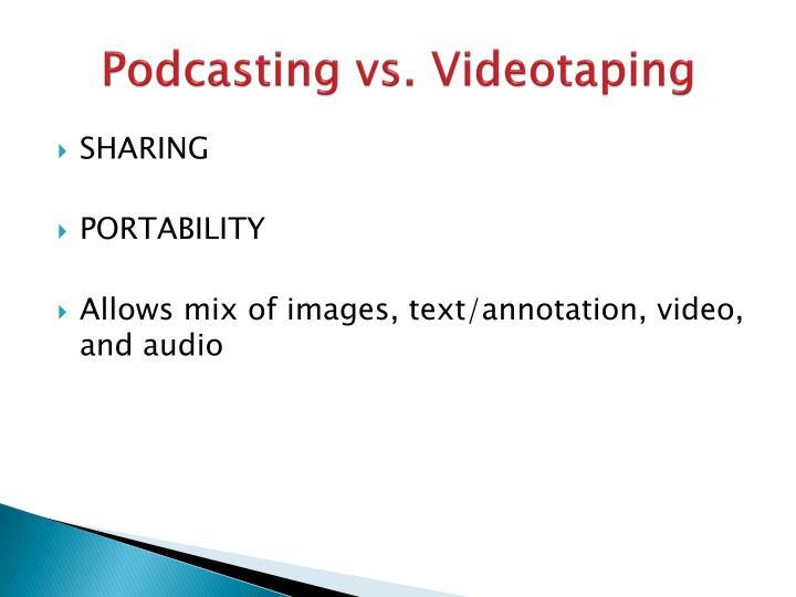 Podcasting vs. Videotaping