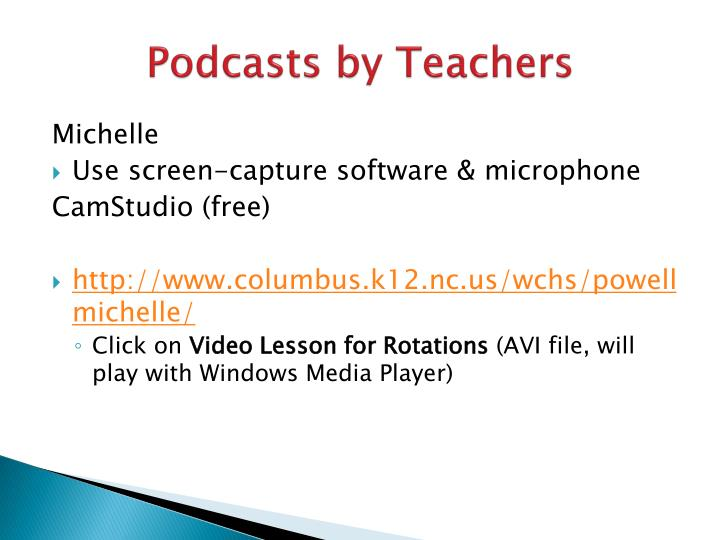 Podcasts by Teachers