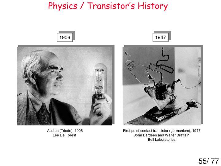 Physics / Transistor's History