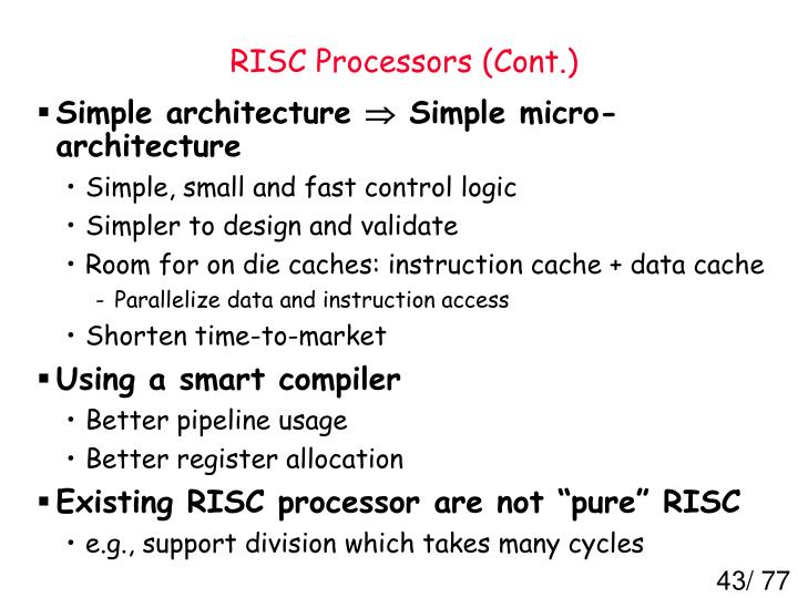 RISC Processors (Cont.)