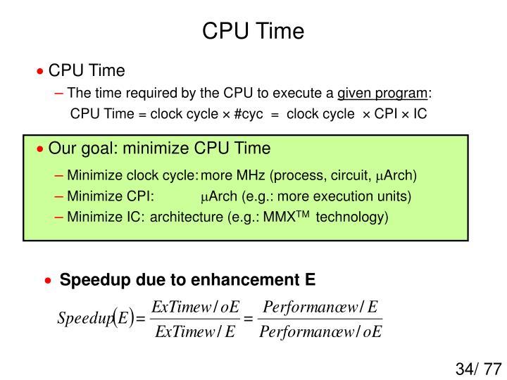 CPU Time