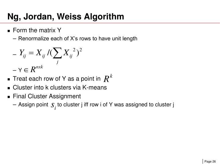 Ng, Jordan, Weiss Algorithm