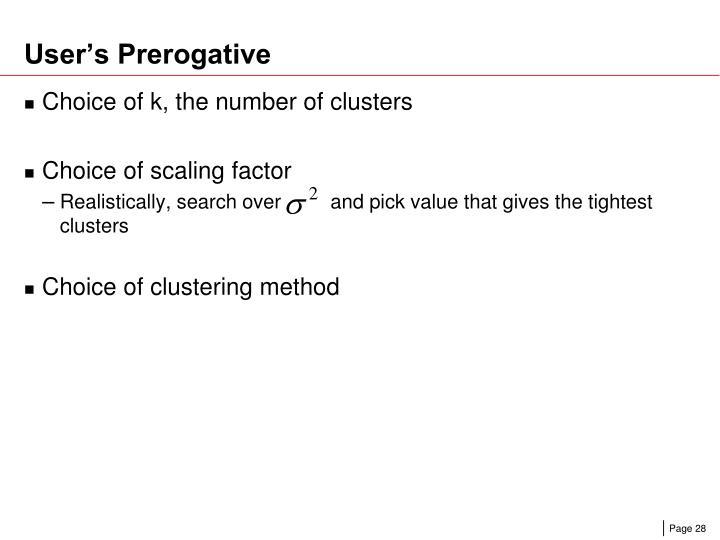 User's Prerogative