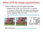 mean shift for image segmentation