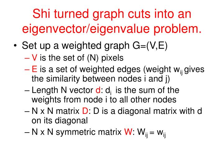 Shi turned graph cuts into an