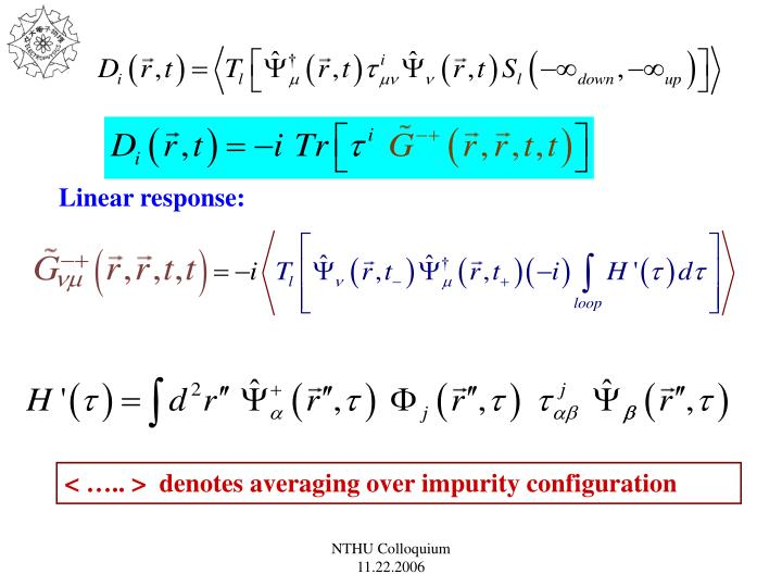 Linear response: