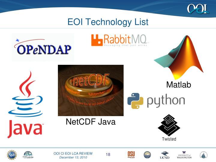 EOI Technology List