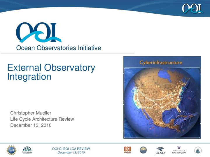 External observatory integration