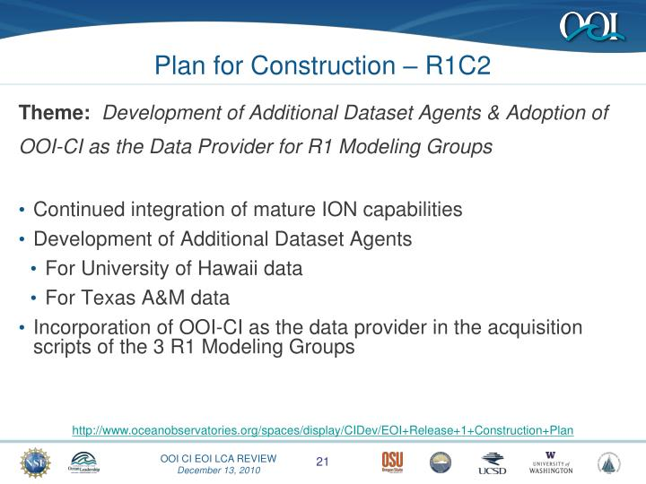 Plan for Construction – R1C2