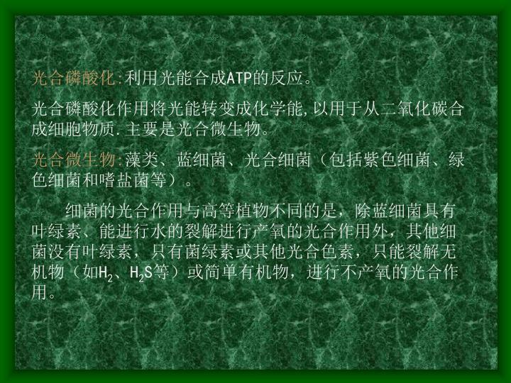 光合磷酸化: