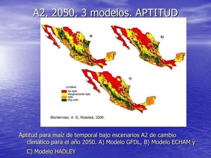 A2, 2050, 3 modelos. APTITUD
