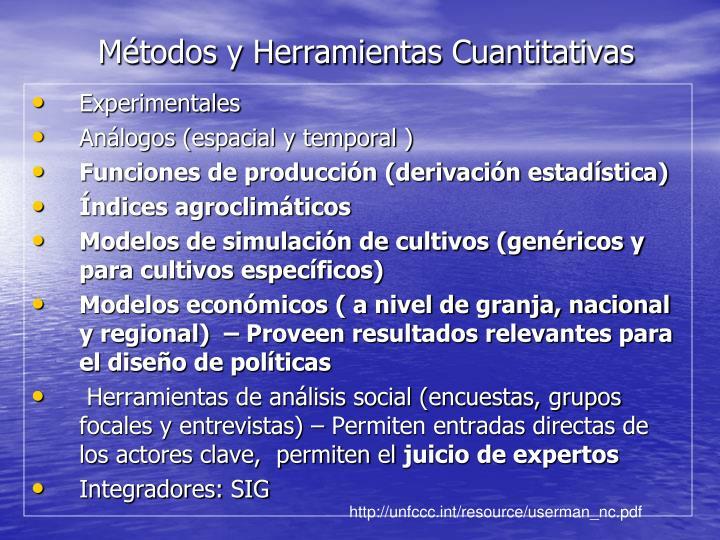Métodos y Herramientas Cuantitativas