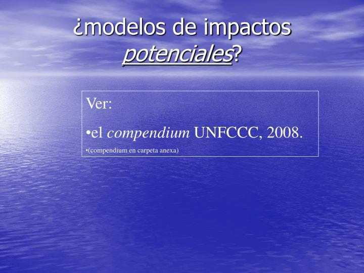¿modelos de impactos