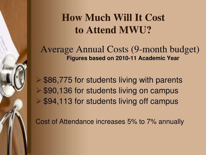 How much will it cost to attend mwu