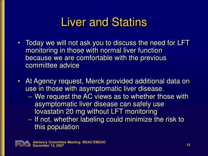 Liver and Statins