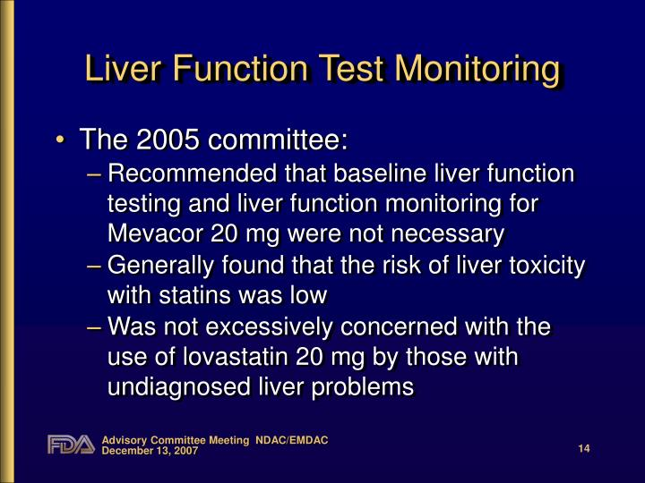 Liver Function Test Monitoring