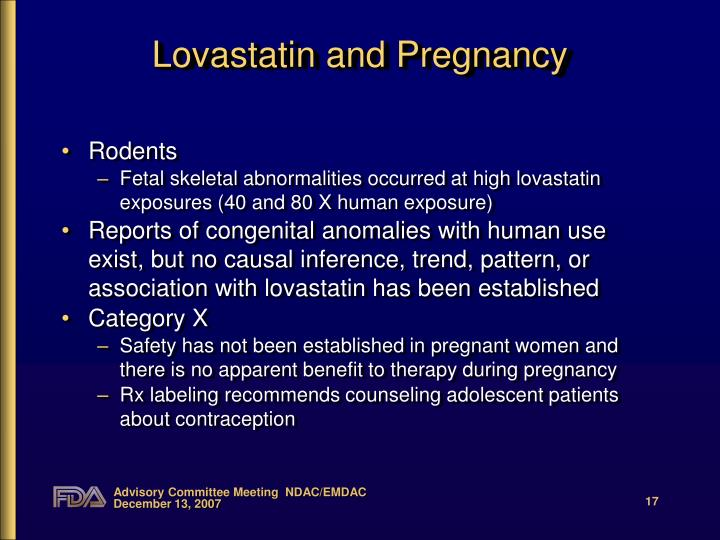 Lovastatin and Pregnancy