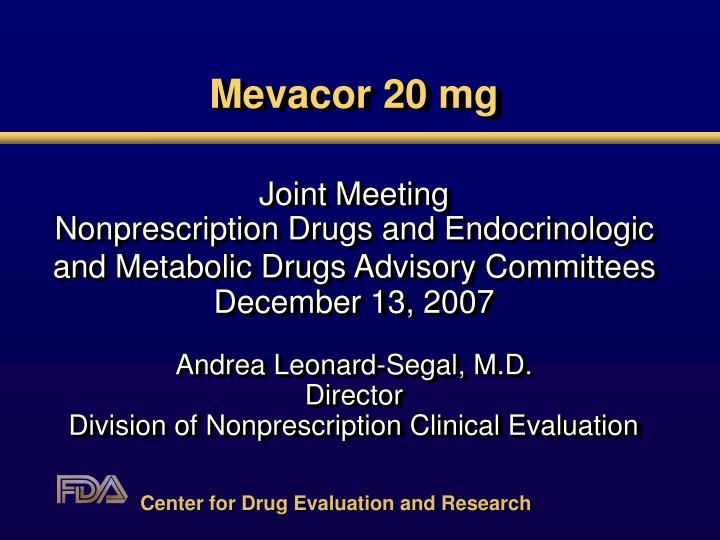 Mevacor 20 mg