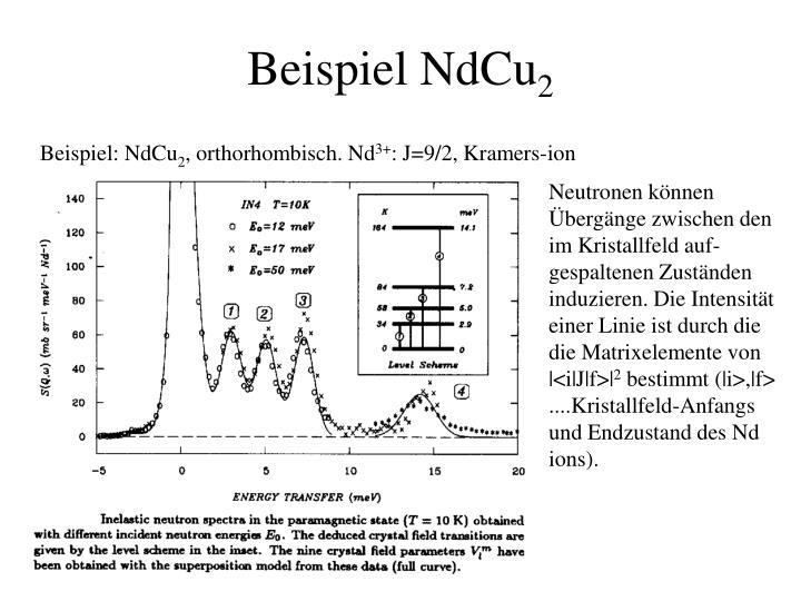 Beispiel NdCu
