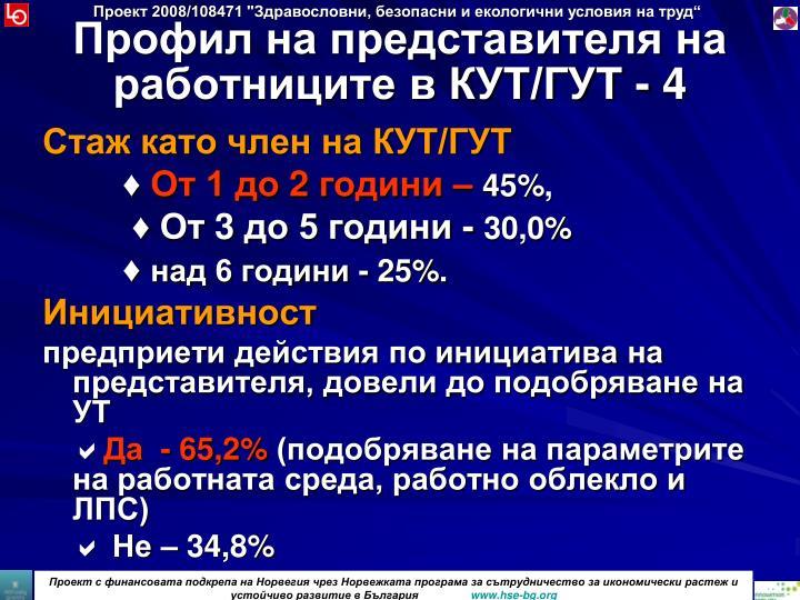 Профил на представителя на работниците в КУТ/ГУТ - 4