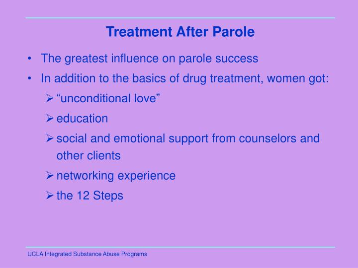 Treatment After Parole
