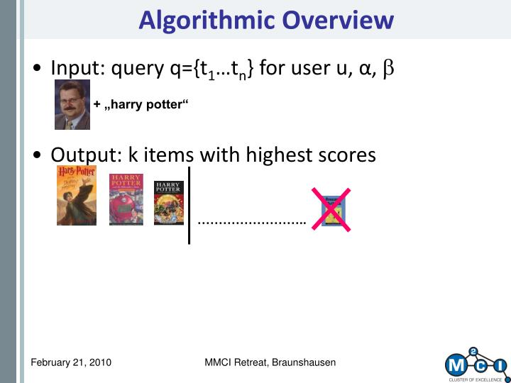 Algorithmic Overview