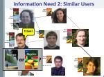 information need 2 similar users