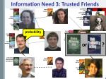 information need 3 trusted friends