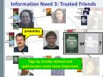 information need 3 trusted friends1