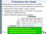 preliminary user study