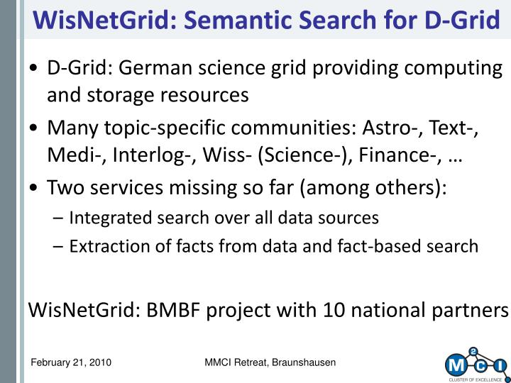 WisNetGrid: Semantic Search for D-Grid
