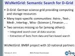 wisnetgrid semantic search for d grid