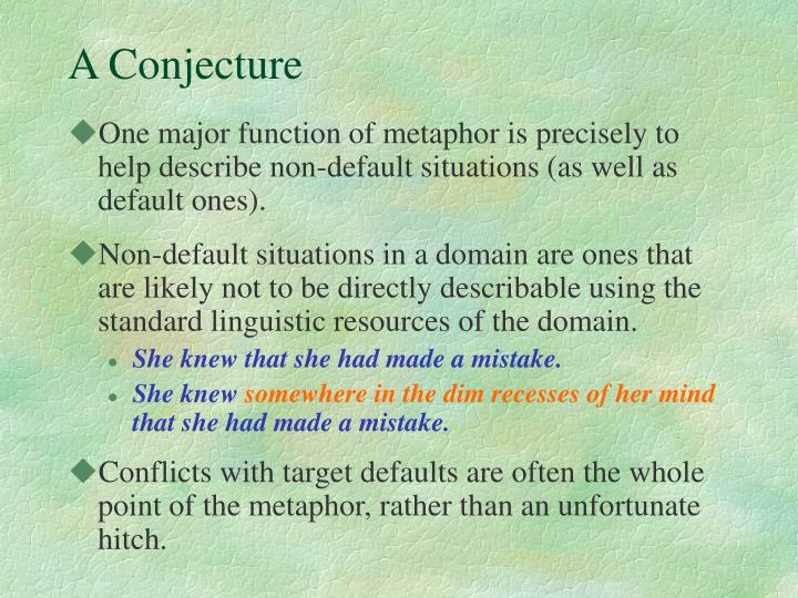A Conjecture