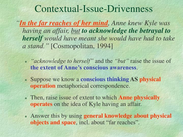 Contextual-Issue-Drivenness