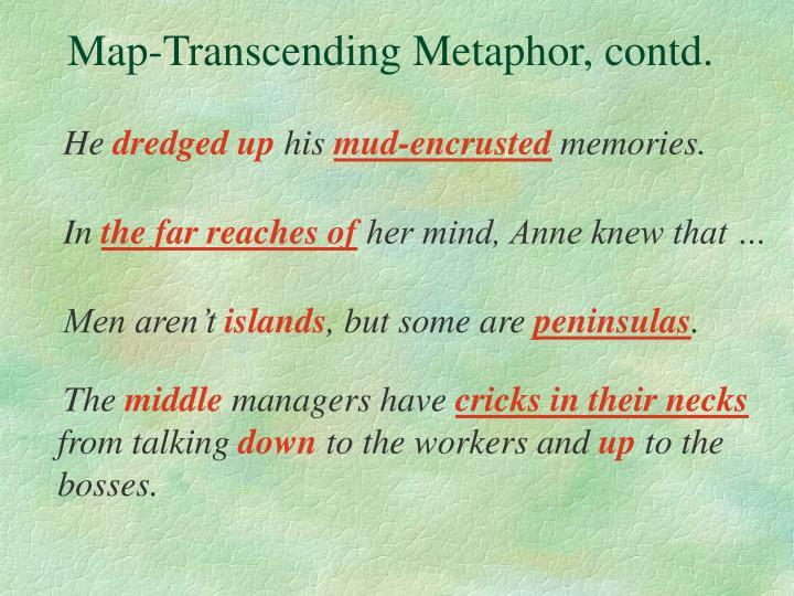 Map-Transcending Metaphor, contd.