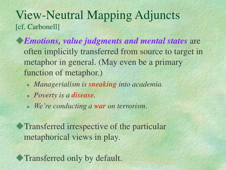 View-Neutral Mapping Adjuncts