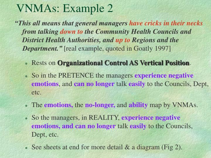 VNMAs: Example 2