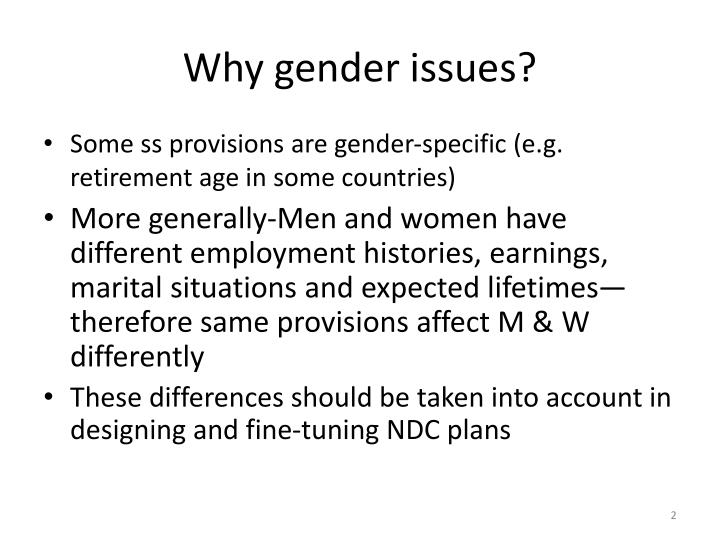 Why gender issues?