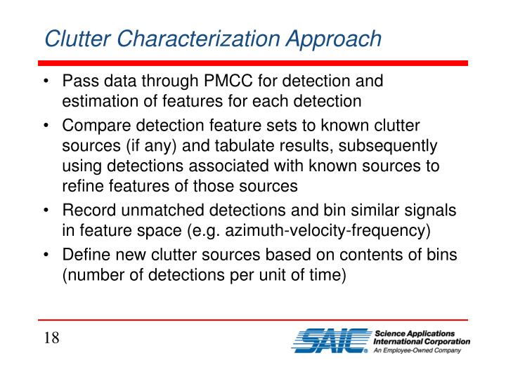 Clutter Characterization Approach