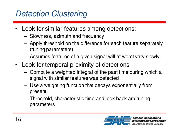 Detection Clustering