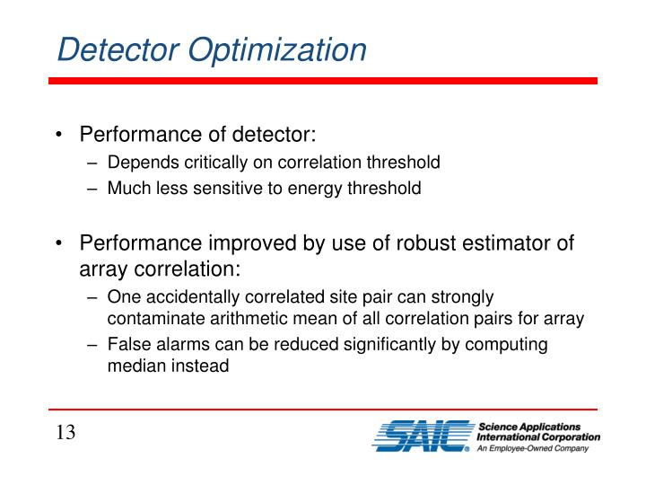 Detector Optimization