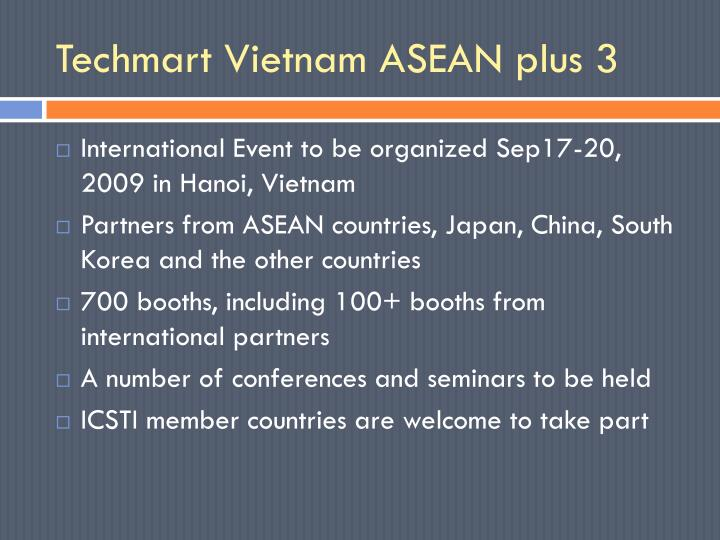 Techmart Vietnam ASEAN plus 3