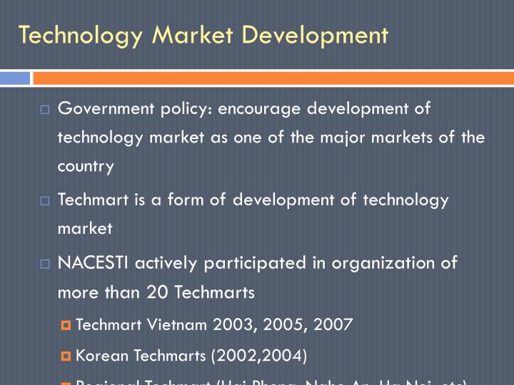Technology Market Development