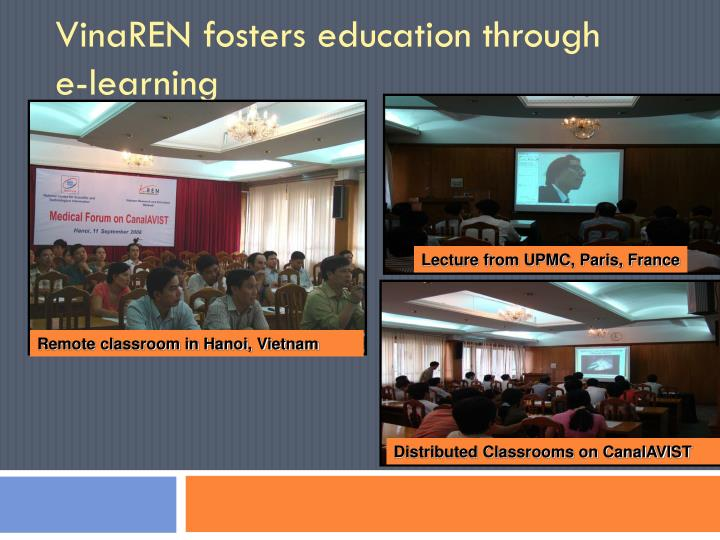 VinaREN fosters education through     e-learning